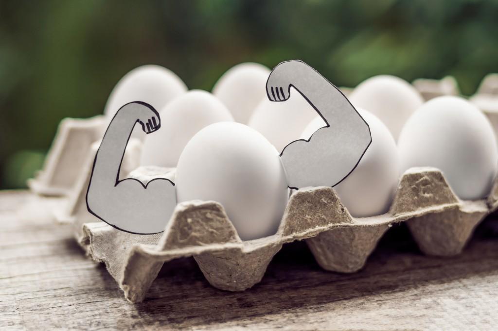 Spis egg for massive økninger i styrke og muskelmasse?